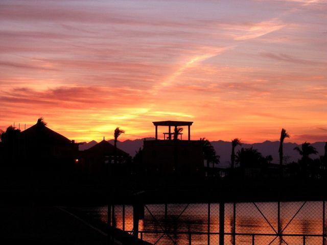 Zdjęcia: Taba, Półwysep Synaj, wschodzi słońce..., EGIPT