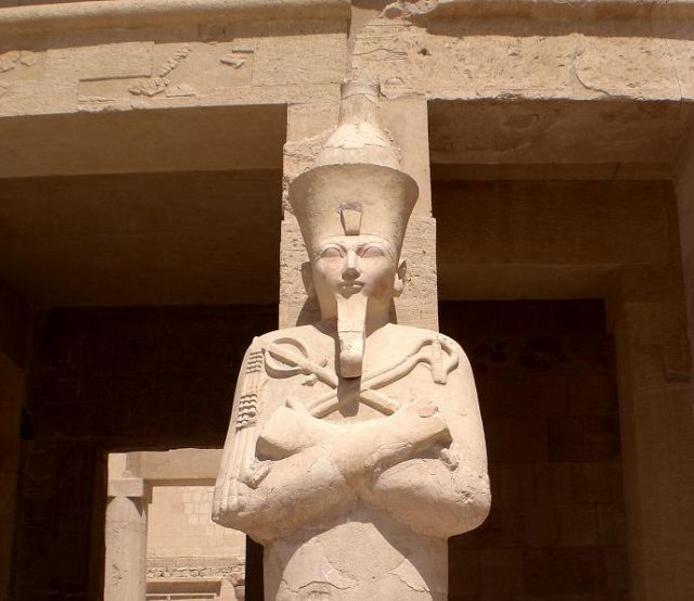 Zdjęcia: Luxor, W świątyni Hatszepsut, EGIPT