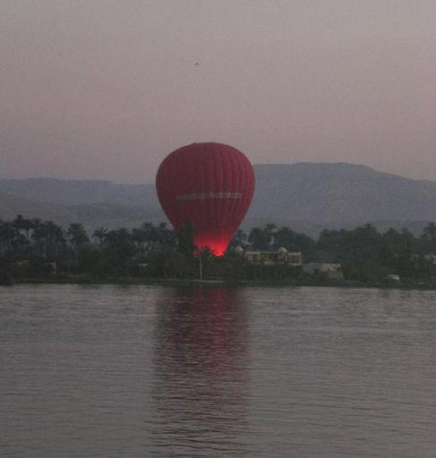 Zdjęcia: Na Nilu Luxor, Balony nad Nilem, EGIPT