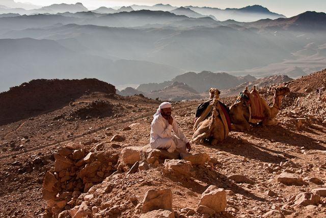 Zdjęcia: Góra Mojżesza, Półwysep Synaj, Góra Mojżesza - wschód słońca, EGIPT