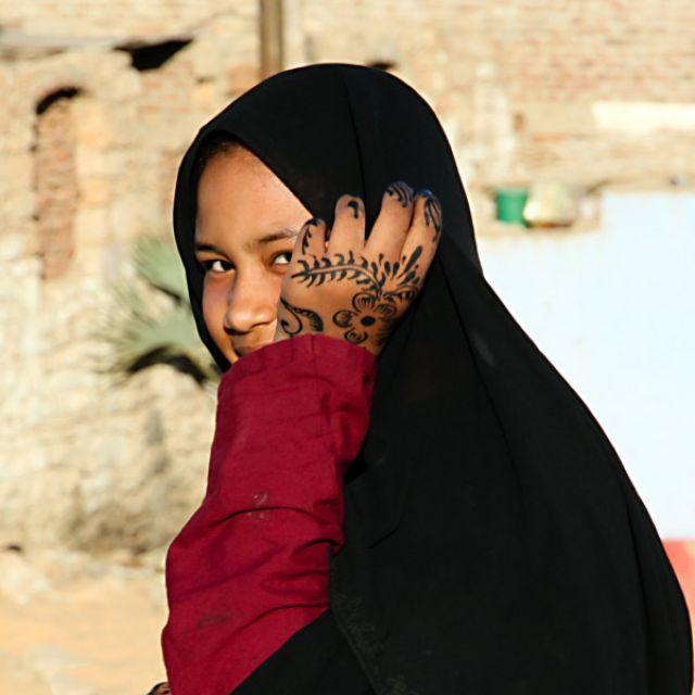 Zdjęcia: Asuan, Nubijska dziewczyna, EGIPT