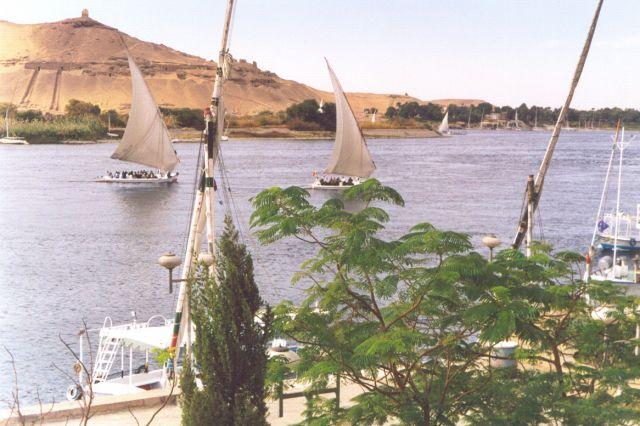 Zdjęcia: Aswan, Górny Egipt, Nil w Aswanie, EGIPT