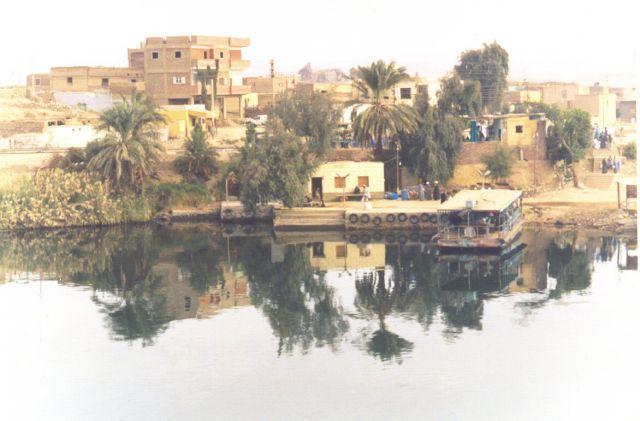 Zdjęcia: Wybrzeże Nilu, Między Luxorem a Aswan, Wioska nad Nilem, EGIPT