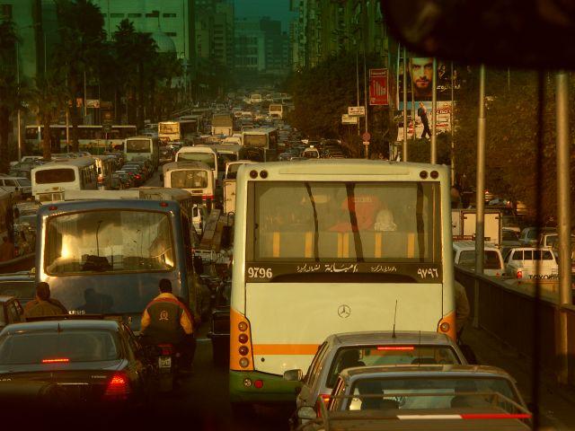 Zdjęcia: kair, kair z perspektywy kierowcy, EGIPT