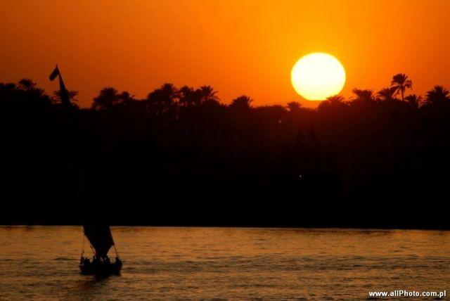Zdjęcia: Luxor, Sunset at Nile River, EGIPT