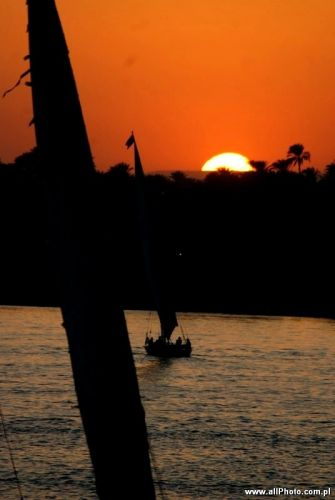 Zdjęcia: Luxor, Sunset at Nile River, EGIPT