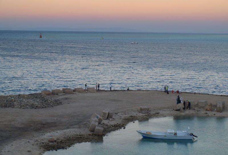 Zdjęcia: Hurghada, wybrzeże Morza Czerwonego, noc prawie, EGIPT