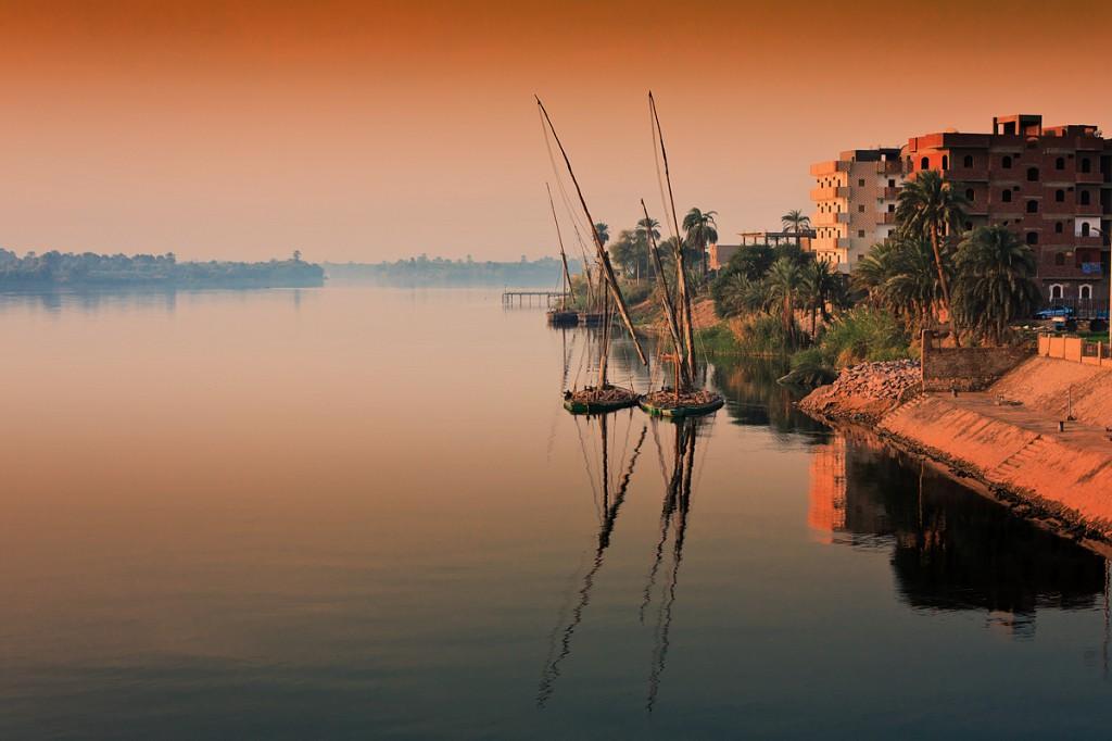 Zdjęcia: Edfu, Edfu, poranek na Nilu, EGIPT