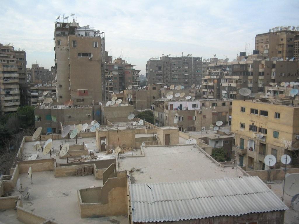 Zdjęcia: Kair, Las anten na dachach w Kairze, EGIPT