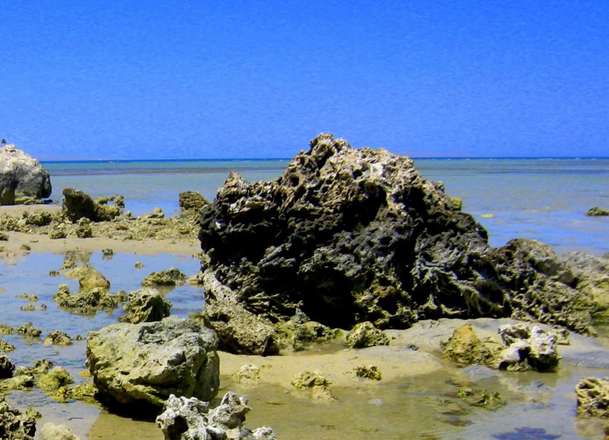 Zdjęcia: Hurghada, Region Morza Czerwonego, Skały, EGIPT