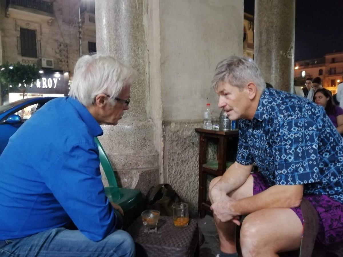 Zdjęcia: Kair,   Afryka, Rozmowa z Prof , EGIPT