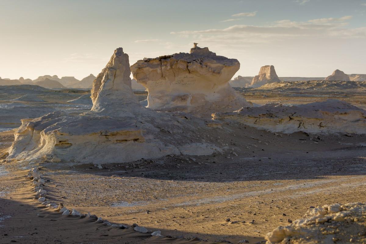 Zdjęcia: Biała Pustynia, Sahara, Na pustyni, EGIPT