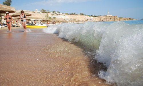 Zdjecie EGIPT / - / Sharm el Shaikh / Morze Czerwone nieco wzburzone..