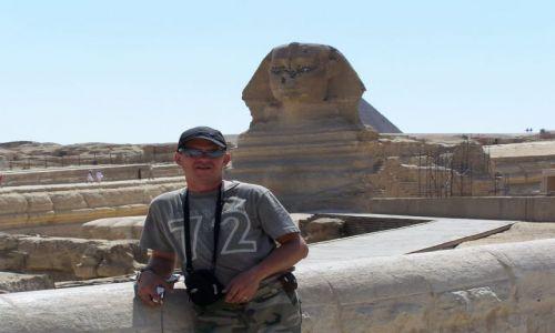 Zdjecie EGIPT / - / karnak / sfinks i ja