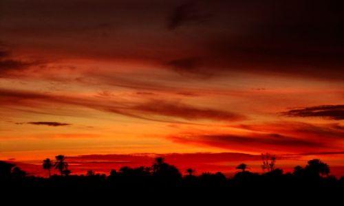 EGIPT / - / Egipt / Zachód słońca nad Nilem