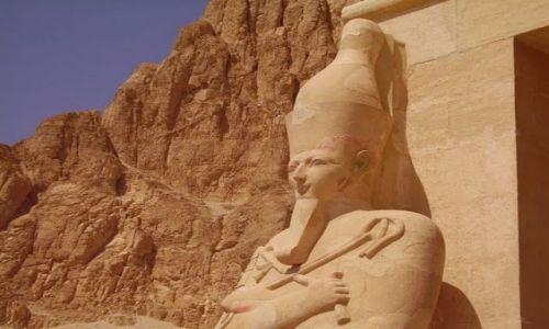 Zdjęcie EGIPT / - / Luxor / Strażnik Świątyni Hatszepsut