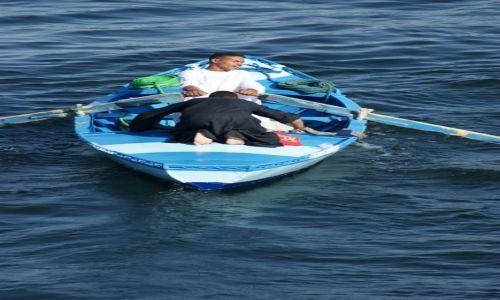 Zdjecie EGIPT / - / Esna / Odpływając