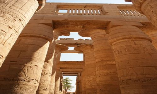 Zdjecie EGIPT / Karnak / Światynia  Karnaku / Sala hypostylowa