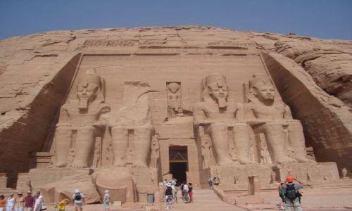 Zdjęcie EGIPT / Pd. Egipt  - na granicy z Sudanem. / Abu Simbel / Świątynia Ramzesa II