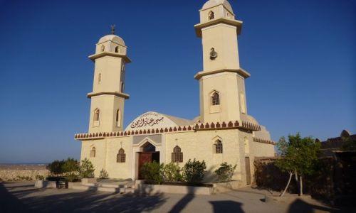 Zdjecie EGIPT / - / Przy ośrodku turystycznym na Pustyni Wschodniej / Meczet