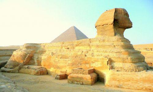 Zdjecie EGIPT / Giza / piramidy / Sfinks
