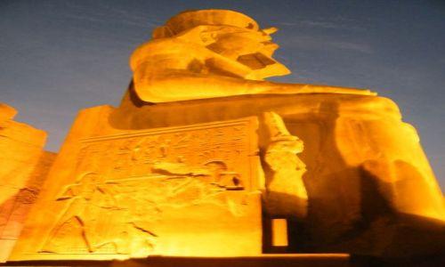 Zdjecie EGIPT / - / Luxor / Luxor wieczorną porą