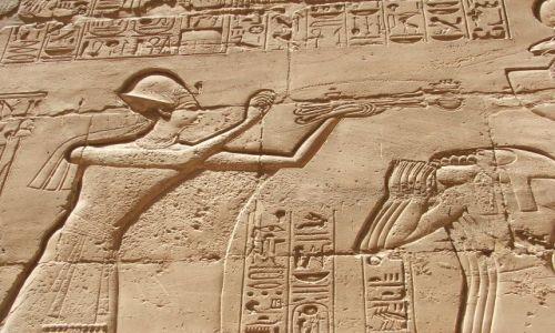 Zdjecie EGIPT / brak / LUXOR / ŚCIANY W KARNAKU