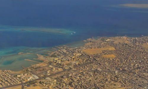 EGIPT / Morze Czerwone / Hurghada / Egipt z góry - wakacje