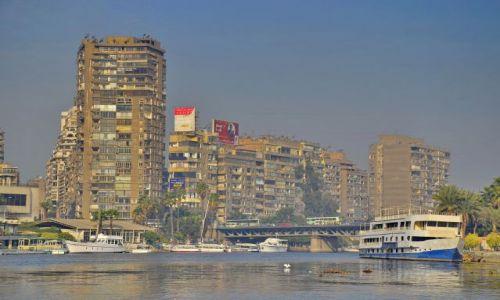 Zdjecie EGIPT / Kair / Kair / WIeżowce nad Nilem