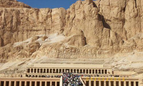 Zdjecie EGIPT / - / Luxor / Swiątynia  Hatszepsut