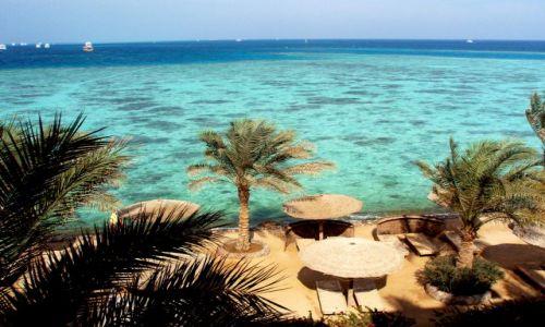 Zdjecie EGIPT / Hurgada / Hurgada / Morze  Czerwone z okna hotelowego