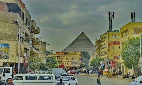 Zdjęcie EGIPT / Kair / Giza / Ulica w Gizie