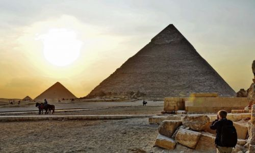 Zdjęcie EGIPT / Kair / Giza / Zachód słońca