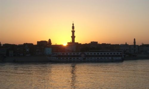 Zdjecie EGIPT / brak / Nil / sunset