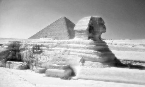 Zdjecie EGIPT / brak / Kair-Gizy / Sfinks i piramida