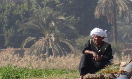 Zdjęcie EGIPT / okolice Luksoru / brzeg nilu / Zadumany