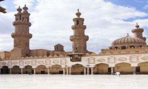 Zdjecie EGIPT / Kair / dzielnica muzułmańska / Meczet Al-Azhar
