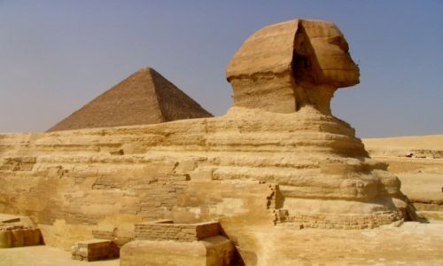 Zdjęcie EGIPT / -- / Giza / Wielki Sphinks