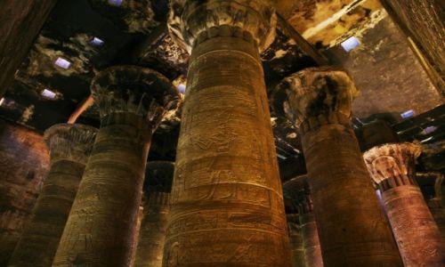 Zdjęcie EGIPT / Edfu / Świątynia Horusa / Kolumny