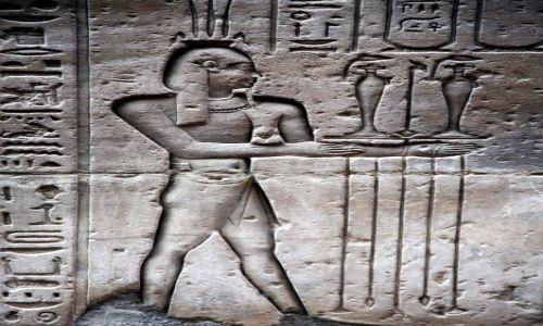 Zdjęcie EGIPT / Edfu / Świątynia Horusa / Opowieść