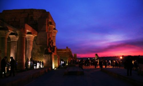 Zdjęcie EGIPT / Wzdłuż Nilu / Kom Ombo / O zmroku