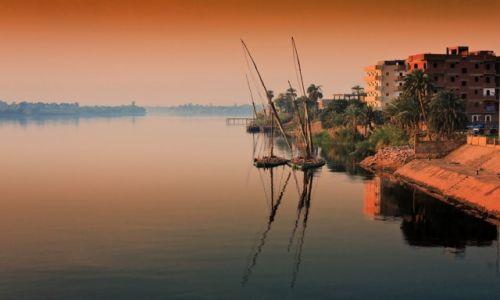 Zdjęcie EGIPT / Edfu / Edfu / poranek na Nilu