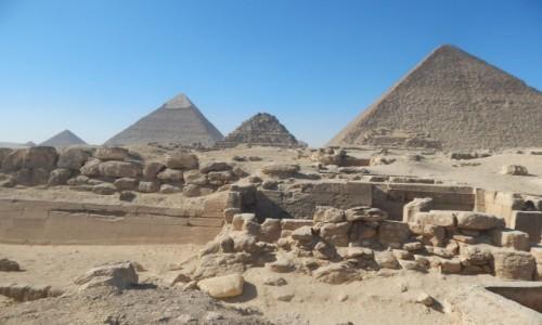 Zdjecie EGIPT / Kair / Giza / Piramidy w Gizi
