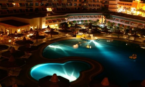Zdjecie EGIPT / Hurgada / Hurgada  / Hotel nocą