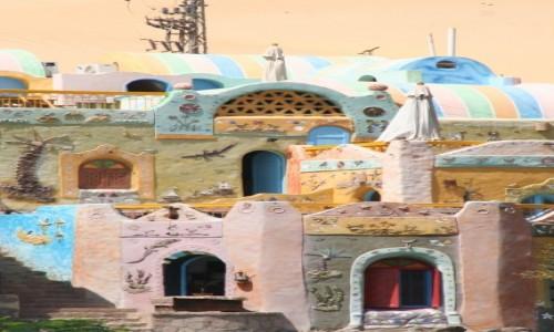 Zdjecie EGIPT / Nubia / brzeg Nilu / Bajkowa wioska