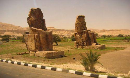 Zdjecie EGIPT / brak / Luksor / Kolosy Memnona