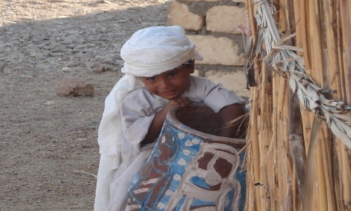Zdjecie EGIPT / okolice Hurghady / Beduińska wioska. / Uśmiech na powi