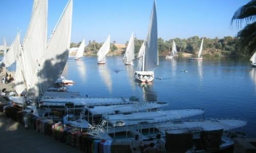 Zdjecie EGIPT / - / Feluka na Nilu / Rejs Feluką po Nilu