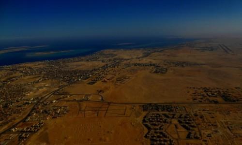 Zdjecie EGIPT / Prowincja Morza Czerwonego / Hurghada / Hurghada z lotu ptaka