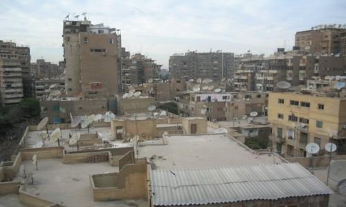Zdjecie EGIPT / - / Kair / Las anten na dachach w Kairze